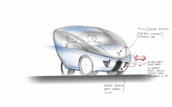 TG0009 - smooth design HER citycar concept sketch